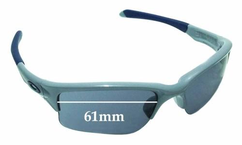 Sunglass Fix Sunglass Replacement Lenses for Oakley Quarter Jacket OO9200 61mm wide
