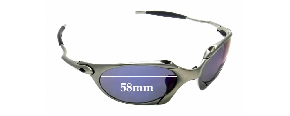 2696f3e5a4 Sunglass Fix Sunglass Replacement Lenses for Oakley X Metal Romeo 1.0  OO1529 - 58mm Wide