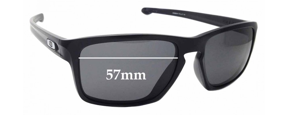 Sunglass Fix Sunglass Replacement Lenses for Oakley Sliver OO9269 - 57mm Wide