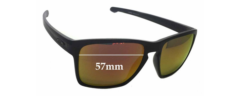 Sunglass Fix Sunglass Replacement Lenses for Oakley Sliver XL OO9341 - 57mm Wide x 46mm Tall