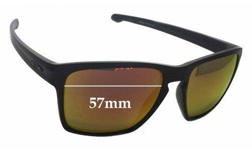 Sunglass Fix Sunglass Replacement Lenses for Oakley Sliver XL OO9341 - 57mm Wide x 46mm Tall