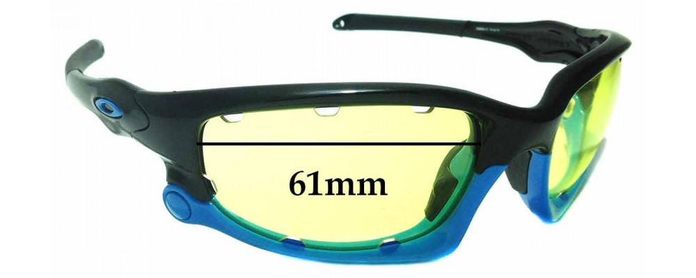 Sunglass Fix Sunglass Replacement Lenses for Oakley Split Jacket OO9099 - Vented Lenses - 61mm Wide