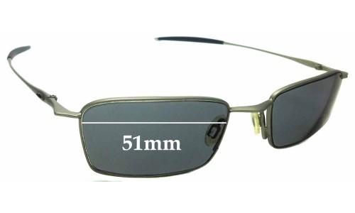 Sunglass Fix Sunglass Replacement Lenses for Oakley Thread 6.0 - 51mm Wide
