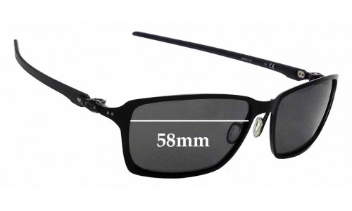 Sunglass Fix Sunglass Replacement Lenses for Oakley Tincan Carbon OO6017 - 58mm Wide