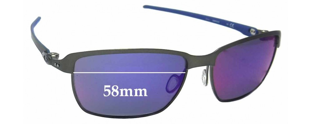 0cd703e6254 Oakley Tinfoil Carbon OO6018 Sunglass Replacement Lenses - 58mm Wide ...