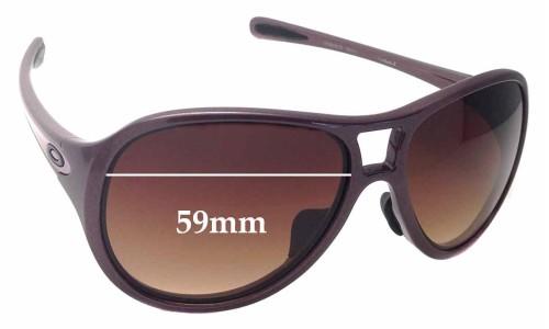 Sunglass Fix Sunglass Replacement Lenses for Oakley Twentysix.2 OO9218 - 59mm Wide