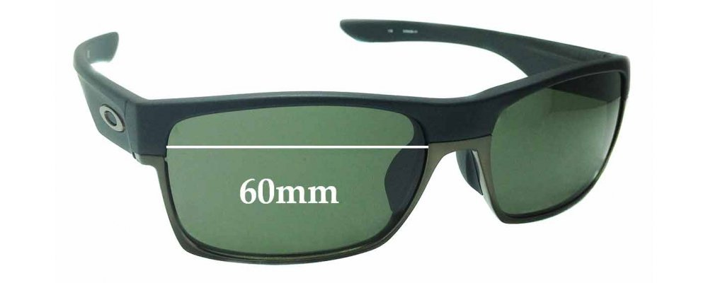 Sunglass Fix Sunglass Replacement Lenses for Oakley TwoFace OO9256 (Asian Fit) - 60mm Wide