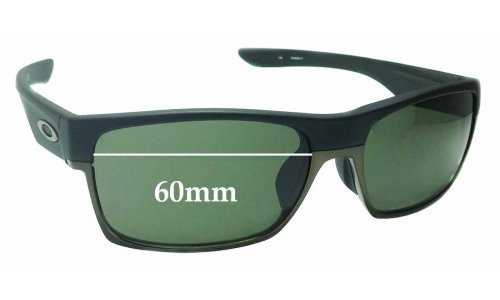 Sunglass Fix Sunglass Replacement Lenses for Oakley Two Face OO9256 Asian Fit - 60mm Wide