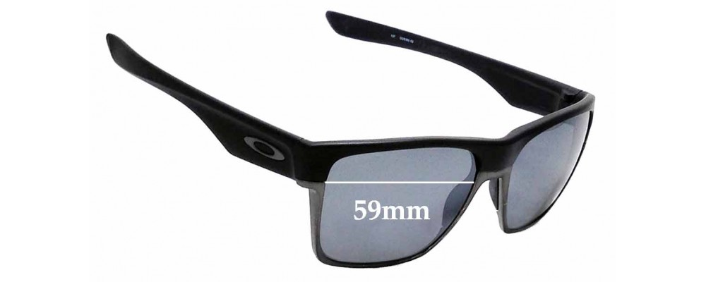 7d41f12fd10 Sunglass Fix Sunglass Replacement Lenses for Oakley Two Face XL OO9350-  59mm Wide