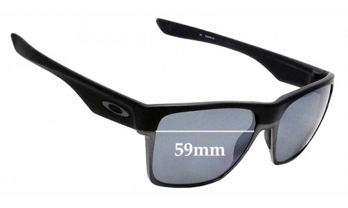 Sunglass Fix Sunglass Replacement Lenses for Oakley Two Face XL OO9350- 59mm Wide