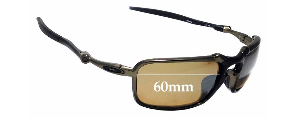 Sunglass Fix Sunglass Replacement Lenses for Oakley X Metal Badman OO6020 - 60mm Wide