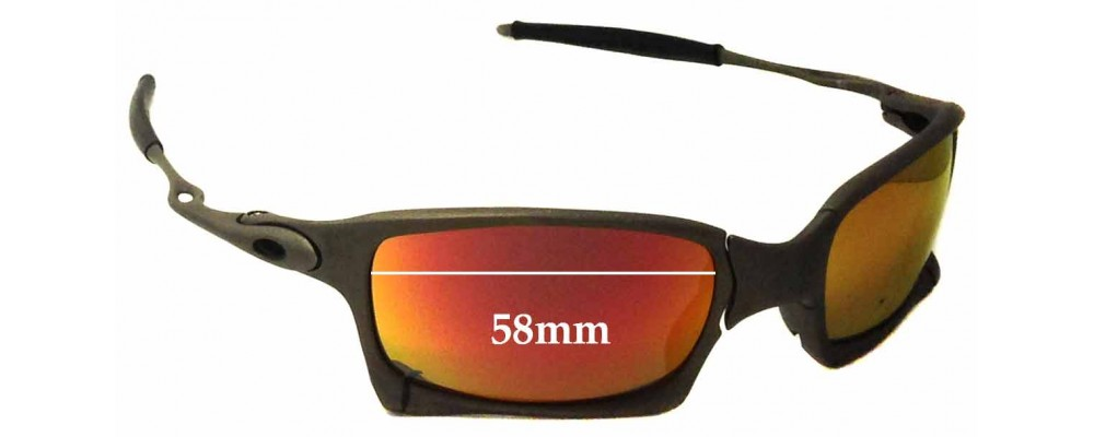 02b7e4cf65 Sunglass Fix Sunglass Replacement Lenses for Oakley X Metal X-Squared OO6011  - 58mm wide