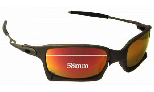 Sunglass Fix Sunglass Replacement Lenses for Oakley X Metal X-Squared OO6011 - 58mm Wide