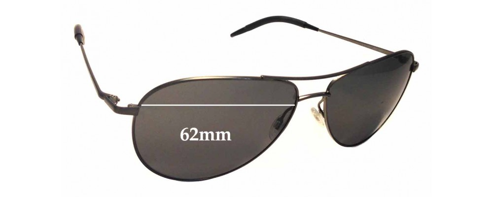 9897a0e719 Oliver Peoples Benedict OV 1002S Sunglass Replacement Lenses - 62mm wide