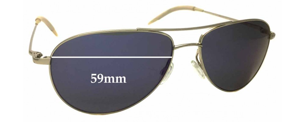 364268c938 Sunglass Fix Sunglass Replacement Lenses for Oliver Peoples Benedict OV  1002S - 59mm wide