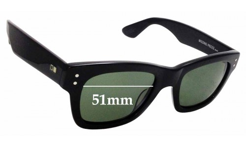 Sunglass Fix Sunglass Replacement Lenses for Otis Missing Pieces - 51mm Wide