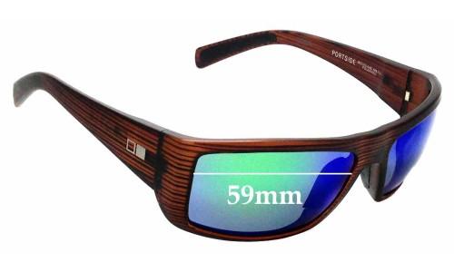 Sunglass Fix Sunglass Replacement Lenses for Otis Portside - 59mm Wide