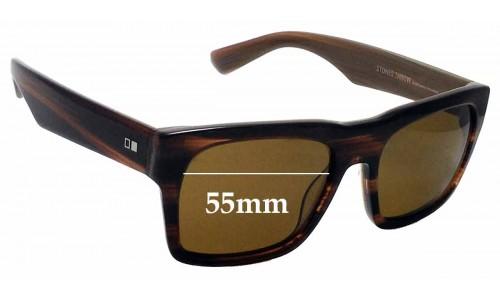 Sunglass Fix Sunglass Replacement Lenses for Otis Stones Throw - 55mm Wide