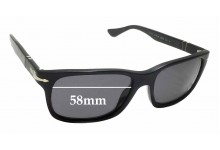 Sunglass Fix Sunglass Replacement Lenses for Persol 3048-S - 58mm Wide x 41mm Tall *Please measure as there are variations*