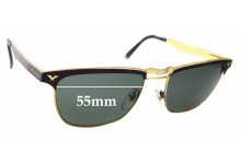Sunglass Fix Sunglass Replacement Lenses for Police Mod 2038 - 55mm Wide