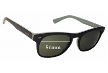 Sunglass Fix Sunglass Replacement Lenses for Police S1952 - 51mm Wide