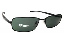 Sunglass Fix Sunglass Replacement Lenses for Police S8085 - 55mm Wide