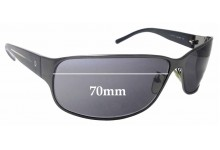 Sunglass Fix Sunglass Replacement Lenses for Police S8177N - 70mm Wide