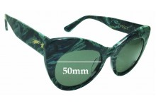 Sunglass Fix Sunglass Replacement Lenses for Poppy Lissiman Pussy - 50mm Wide