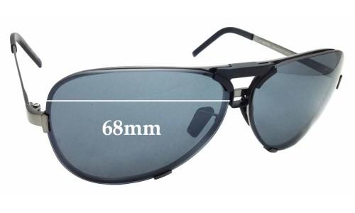 Sunglass Fix Sunglass Replacement Lenses for Porsche Design P 8678 - 68mm Wide