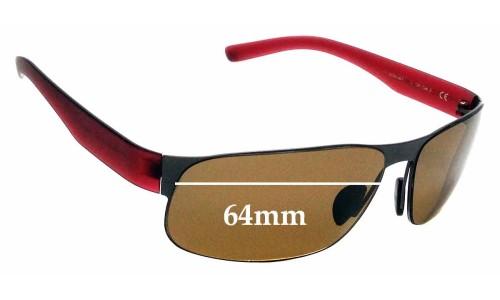 Sunglass Fix Sunglass Replacement Lenses for Porsche Design P 8531 - 64mm Wide