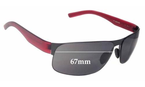 Sunglass Fix Sunglass Replacement Lenses for Porsche Design P 8531 - 67mm Wide