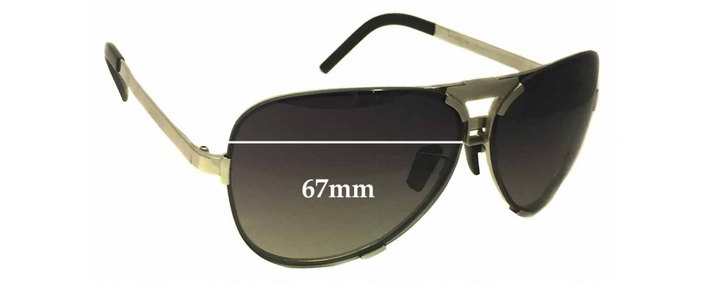 bc2493866719 Porsche Design P8678 Sunglass Replacement Lenses - 67mm Wide ...