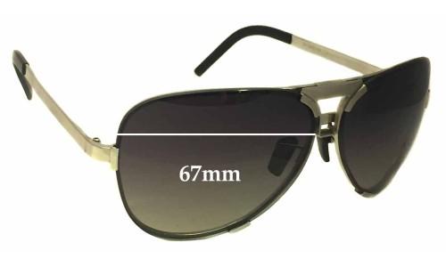 Sunglass Fix Sunglass Replacement Lenses for Porsche Design P 8678 - 67mm Wide