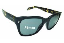 Sunglass Fix Sunglass Replacement Lenses for Prada SPR09S - 54mm Wide