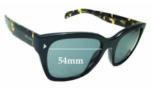 Sunglass Fix Sunglass Replacement Lenses for Prada SPR09S - 54mm Wide