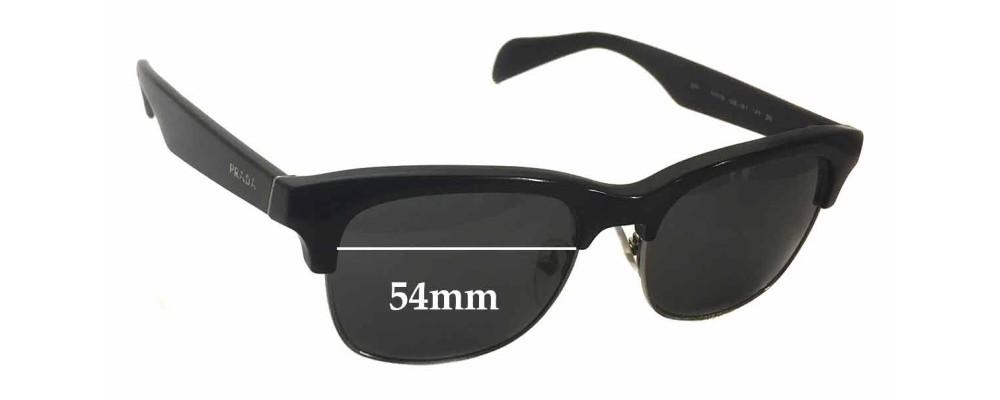 Sunglass Fix Sunglass Replacement Lenses for Prada SPR11P - 54mm Wide