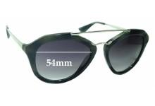 Sunglass Fix Sunglass Replacement Lenses for Prada SPR12Q - 54mm Wide