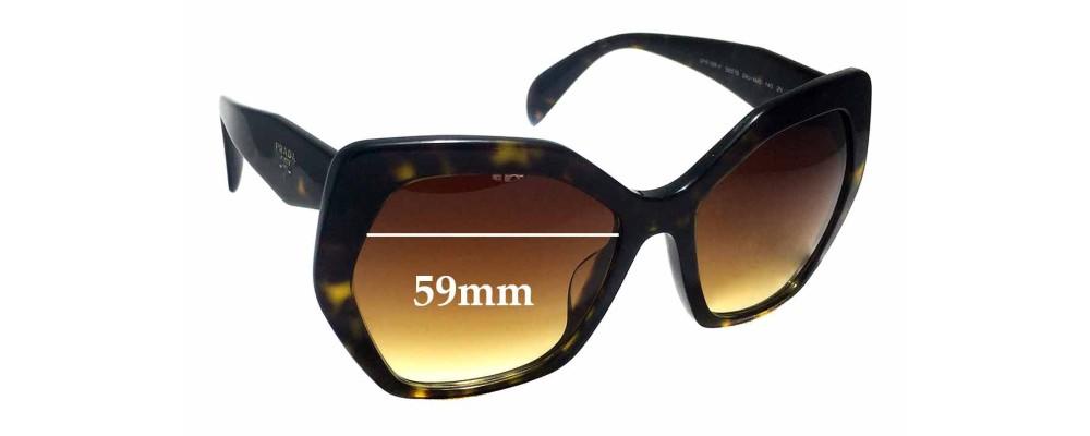Sunglass Fix Sunglass Replacement Lenses for Prada SPR16R-F - 59mm Wide
