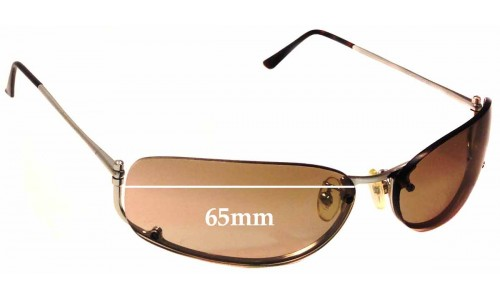 Sunglass Fix Sunglass Replacement Lenses for Prada SPR50D - 65mm Wide