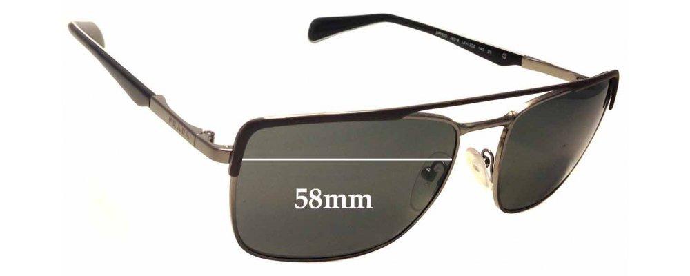 Sunglass Fix Sunglass Replacement Lenses for Prada SPR50Q - 58mm Wide