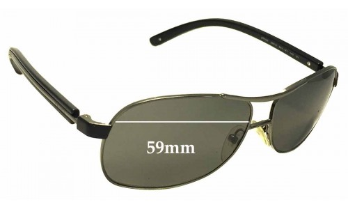 Sunglass Fix Sunglass Replacement Lenses for Prada SPR59L - 59mm Wide