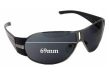 Sunglass Fix Sunglass Replacement Lenses for Prada SPR60H - 69mm Wide