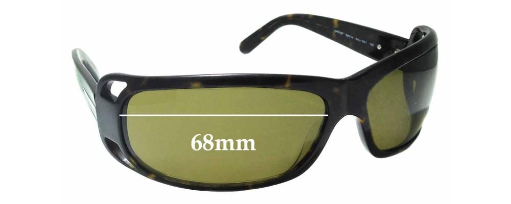 Sunglass Fix Sunglass Replacement Lenses for Prada SPR02F - 68mm Wide