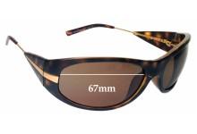 Sunglass Fix Sunglass Replacement Lenses for Prada SPR07I - 67mm Wide
