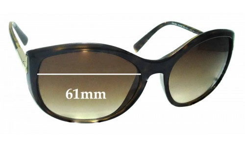 Sunglass Fix Sunglass Replacement Lenses for Prada SPR 09N - 61mm wide