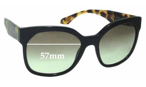 Sunglass Fix Sunglass Replacement Lenses for Prada SPR10R - 57mm wide