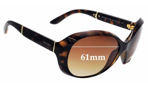 Sunglass Fix Sunglass Replacement Lenses for Prada SPR12O - 61mm Wide