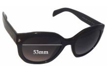 Sunglass Fix Sunglass Replacement Lenses for Prada SPR12S - 53mm Wide