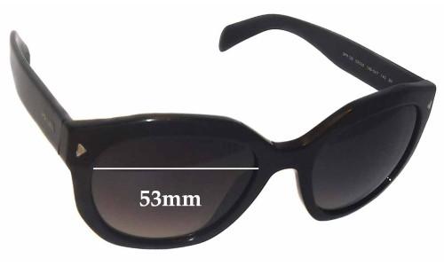 Sunglass Fix Sunglass Replacement Lenses for Prada SPR12S -53mm wide