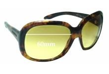 Sunglass Fix Sunglass Replacement Lenses for Prada SPR17I - 60mm Wide